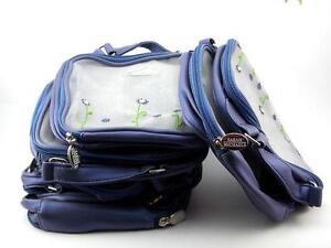 12 Sarah Michaels MakeUp Cosmetics Bags wholesale joblot clearance party blue uk