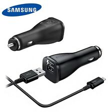 New OEM Genuine Samsung Galaxy S7 Edge Note 5 Adaptive Car Charger + USB Cable