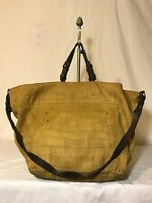 Jerome Dreyfuss Jacques Paris Leather Tall Satchel Convertible Tote Purse Bag