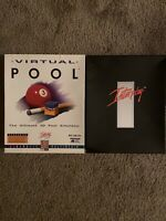 VIRTUAL POOL THE ULTIMATE POOL SIMULATOR 1995 INTERPLAY PC COMPUTER GAME CD-ROM
