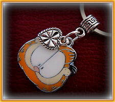 "GARFIELD ""the Cat"" Jewelry KEYCHAIN - enameled Garfield with Heart"