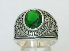 Marines United Stated Military 925 Sterling Silver May Green Men Ring Size 9