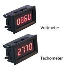 2 in 1 Digital Tachometer Gauge LED RPM Voltmeter for Auto Motor Rotating Speed