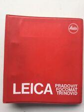 Leica Dealer Manual 1980 Edition