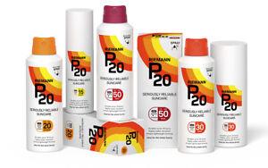 P20 Riemann SPF 15 20 30 50 - 100ml 200ml - Lotion Spray - Choose Your Option