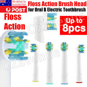 FLOSS ACTION Oral B Compatible Electric Toothbrush Replacement Brush Heads 4/8