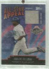 2004 Topps Authentic All Star Appeal Carlos Delgado Game Used Base Card - 62/65
