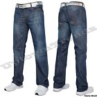 NEUF Mens SMITH & JONES COUPE BOTTILLON évasé & jambe droite jeans bleu 71.1cm -