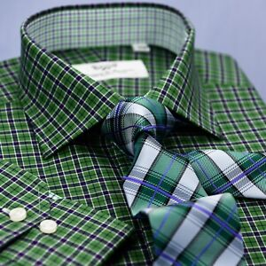 Forest Green Best Designed Gingham Check With Light Green Check Inner Lining