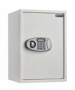 AdirOffice White Steel 2.32 Cubic Mounting Digital Lock Security Deposit Safe