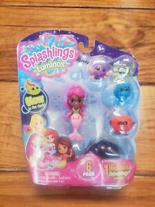 Splashlings Luminos Glow in Dark Pack Mermaid Pink New Sealed Summer Seacrest
