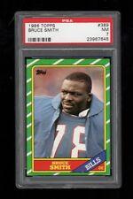 1986 Topps FB Card #389 Bruce Smith Buffalo Bills ROOKIE CARD PSA NM 7 !!!