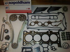 FOR FORD FOCUS & C-MAX 1.8 16V TIMING CHAIN KIT + HEAD GASKET SET & HEAD BOLTS