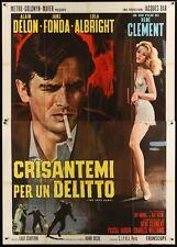 JOY HOUSE LES FELINS Italian 4F movie poster 55x79 ALAIN DELON JANE FONDA NISTRI
