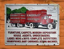 """TIN SIGN """"Maddox Movers"""" Rustic Home Advertisement Furniture Wall Decor"""