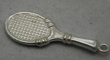 3d En Plata Esterlina Tenis Raquet encanto