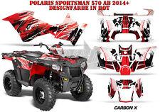 AMR Racing DECORO GRAPHIC KIT ATV POLARIS SPORTSMAN modelli Carbon-x B