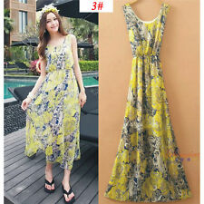 Sexy Women Evening Party Dress Chiffon Dress Summer Beach Dresses-10