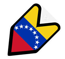 ## JDM DRIVER BADGE VENEZUELA VENEZUELAN Car Decal Flag not vinyl sticker ##