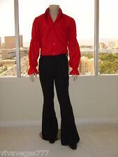 """38"""" WAIST  Elvis (BLACK) Kick-Pleat Pants (Tribute Artist Costume) Jumpsuit Era"""