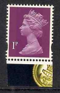 GB 2009 sg Y1761 1p litho 2 bands Navy Uniforms booklet stamp MNH ex Y1743n .