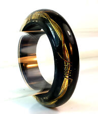 BLACK WITH GOLD WIRE EGYPTIAN STYLE BANGLE BRACELET BRAND NEW FAST DELIVERY