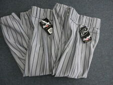 Lot of 2 Pair Womens Xs Gray with Blue Stripes Rawlings Baseball Pants New Xs