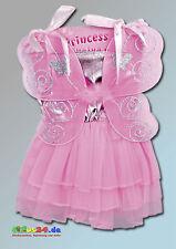 Déguisement pour enfant Celia carnaval costume d'elfe rose robe de fée à ailes