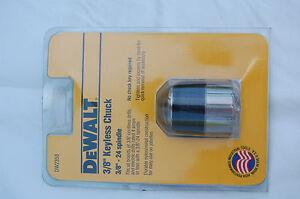 """DEWALT DW2350 3/8""""Keyless Chuck 24 Thread Spindle USA made NOS estate find"""