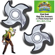 Skylanders Swap Force Stink Bomb Ninja Star Throwing Costume Accessory x 2 Pc