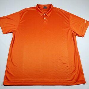NIKE Golf Dri-fit Orange 3 Button Polo Shirt size 4XL