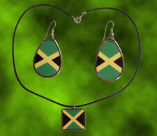 Jamaica Square Pendant with Cord & Teardrop hanging earrings