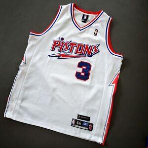 100% Authentic Ben Wallace Reebok HWC Nights Pistons Jersey Size 44 L XL Mens