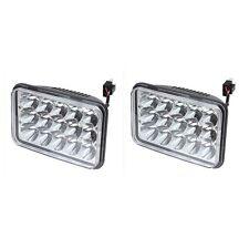 Pair 45W 4x6 CREE LED Headlights Sealed Beam HID Bulb Kenworth T800 T400 6000K