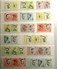 DDR Zusammendrucke Mahn- und Gedenkstätten 1963 Mi 958-962 **
