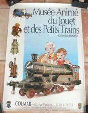affiche musée du jouet et des petits trains . collection G. Trincot - Colmar