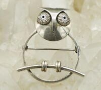 VTG Rudow Sterling Silver Owl Pin Brooch! 36