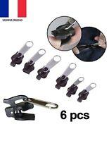 Kit de Réparation éclair Zip Fermeture Eclair 6pcs Fix Zipper 3 tailles