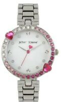 NWT Betsey Johnson Women's Crystal Embellished Watch BJ00704-01 MSRP $85