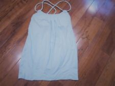LULULEMON flow and go tank in aqua blue size 6 open strappy back
