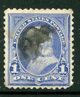 USA 1894 Franklin 1¢ Ultramarine  Unwatermarked Scott 246 VFU I727