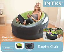Inflatable Chair Lounge Seat Air Blow Up Couch Sofa Portable Bean Bag Green Home