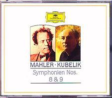 KUBELIK: MAHLER Symphony No.8 & 9 Fischer-Dieskau Crass Arroyo Hamari Mathis 2CD