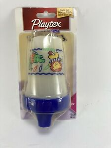 NEW Playtex The Original Spill-Proof Cup 6 oz Blue Lion Bear Zoo Animal Design