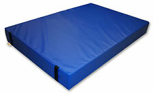 Implay® Gymnastics 610gsm PVC Foam Blue Gym Landing Crash Mat - 180 x 120 x 10cm
