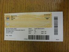 Billete De 30/03/2013: Manchester City v Newcastle United (ligero pliegue). gracias Fo