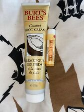 Burts Bees 120g Coconut Foot Cream And Lip Balm New