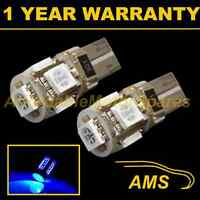 2X W5W T10 501 CANBUS ERROR FREE BLUE 5 LED SIDELIGHT SIDE LIGHT BULBS SL101303