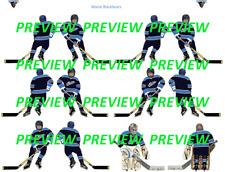 Coleco Table Hockey Maine Blackbears Blue Team Custom Decal Sheet