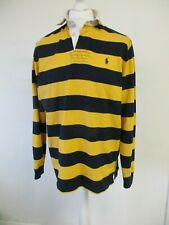 Rugby Shirt, Ralph Lauren, Polo, Medium, 60cm Wide, Black & Yellow Long Sleeve